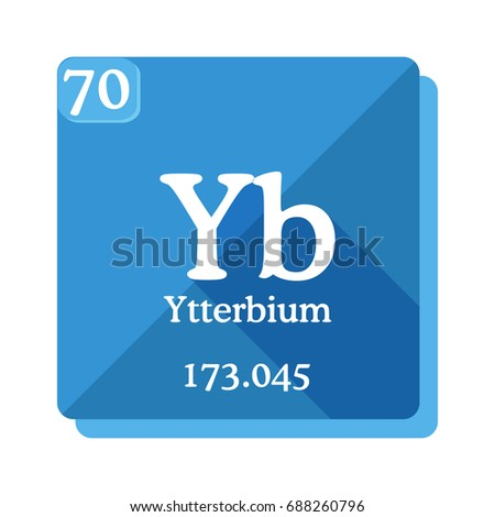 Ytterbium yb element periodic table vector stock vector 688260796 ytterbium yb element of the periodic table vector illustration in flat style urtaz Gallery