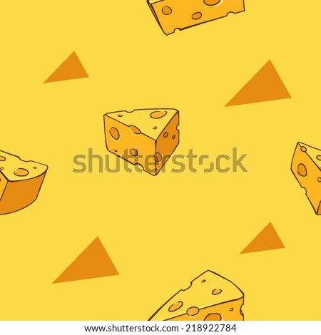 Yummy cheese pattern - stock vector