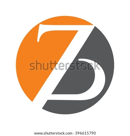 z and b logo vector.