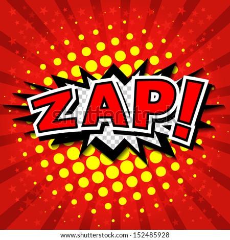 Zap! - Comic Speech Bubble, Cartoon  - stock vector