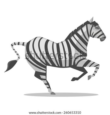 Zebra Cartoon - stock vector