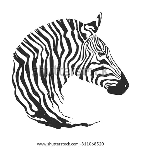 Zebra Head Outline Zebra Head Outline | w...