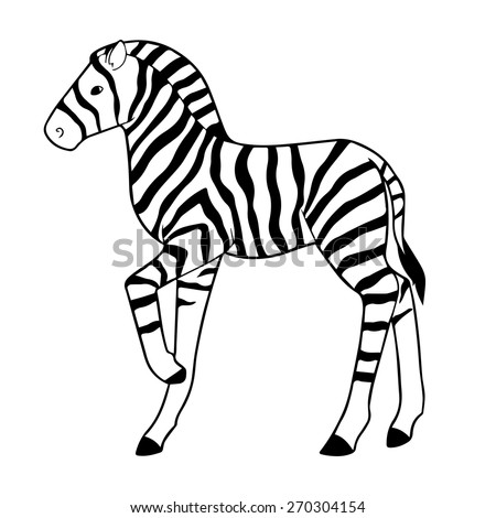 zebra outline drawing - photo #12
