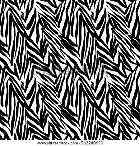 Aninimal Book: Zebra Seamless Vector Background Stock Vector 169976150 ...