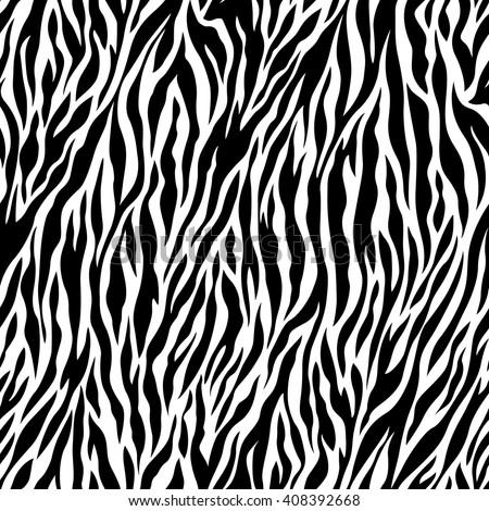 Zebra pattern illustration - stock vector