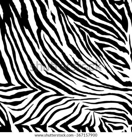 Zebra Pattern. Seamless Background. - stock vector