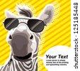 zebra popart - stock vector