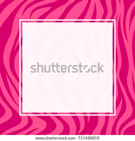 Zebra print border design animal skin stock vector 715488859 zebra print border design animal skin texture pink color seamless pattern with square frame voltagebd