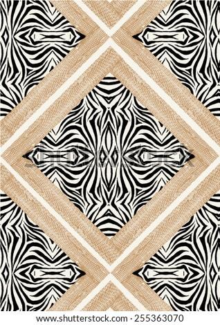 Zebra skin print in vector. - stock vector