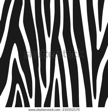 Zebra Stripes Seamless Pattern 3 - stock vector