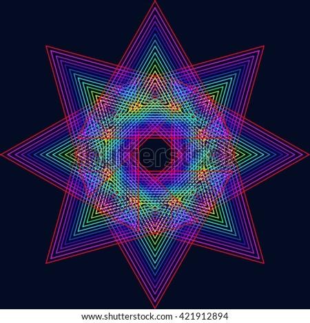 Zen background.Spirograf star. - stock vector