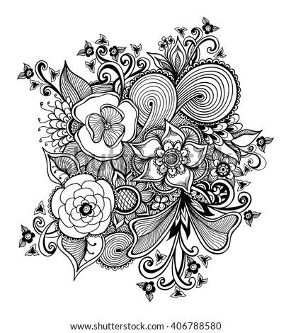 zen doodle coloring pages flower - photo#14