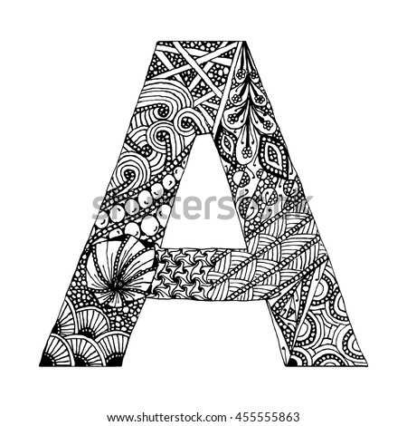 Zentangle Letters Stock Photos