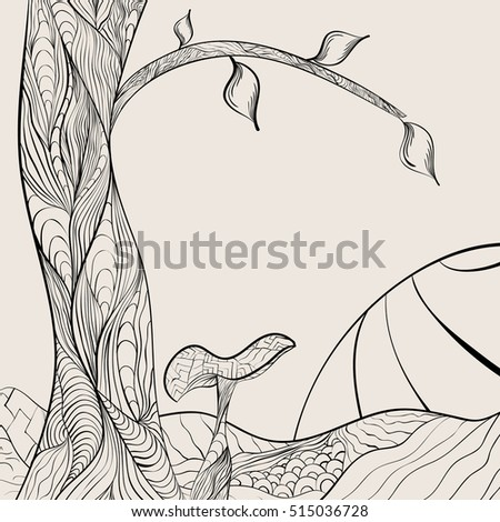 Zentangle Landscape Stock Images Royalty Free Images