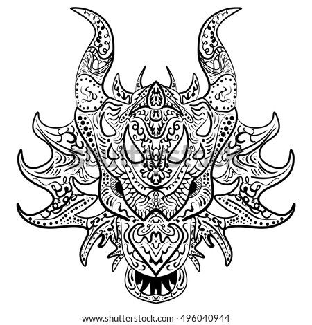 Dragon head stock images royalty free images vectors shutterstock zentangle stylized dragon doodle vector head zen art ethnic drawing ornamental print ccuart Images