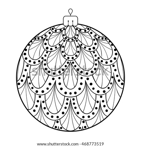 Zentangle Stylized New Year 2017 Christmas Stock Vector