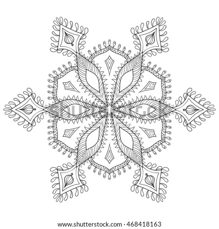 snowflake coloring pages for adults - panki 39 s portfolio on shutterstock