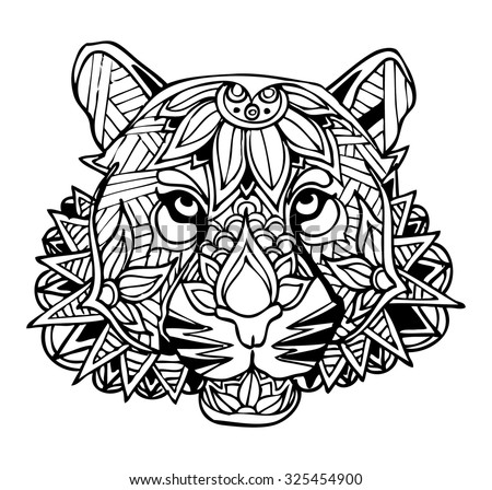 Blackstroke 39 s portfolio on shutterstock - Mandalas de tigres ...