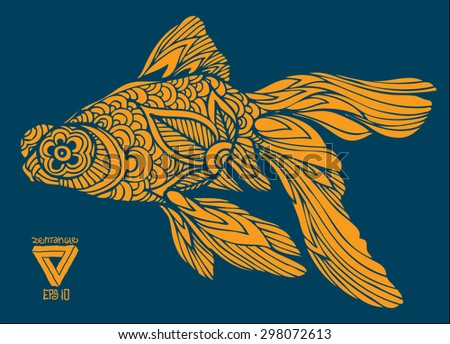 zentangle vector goldfish