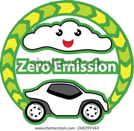 Zero Emission - stock vector