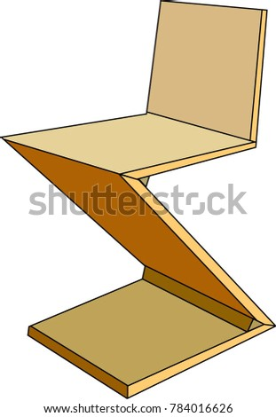 Zig Zag Chair Vector