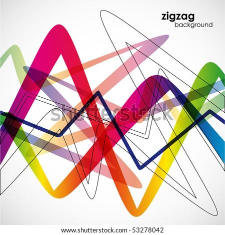 zigzag background, eps10 - stock vector
