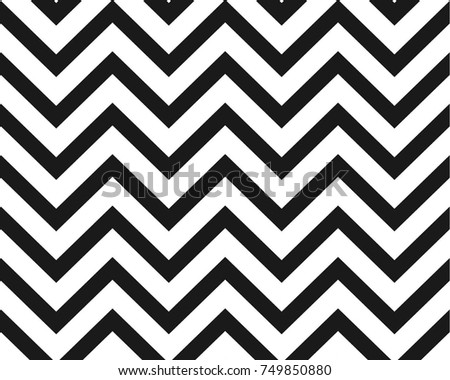 Zigzag black and white simple pattern design background vector