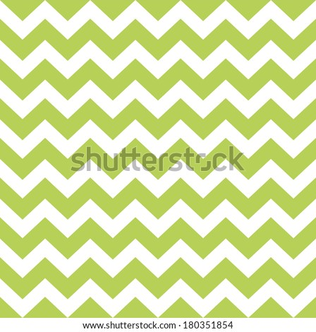 Zigzag pattern in wild green isolated on white  - stock vector
