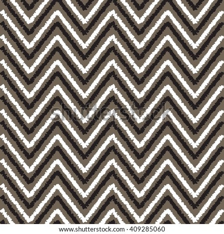 Zigzag seamless pattern - abstract geometric texture in black and white color. Fashion graphics design. Graphic style for wallpaper, t-shirt, apparel and other print production - stock vector