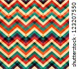 zigzag seamless pattern with grunge effect - stock photo