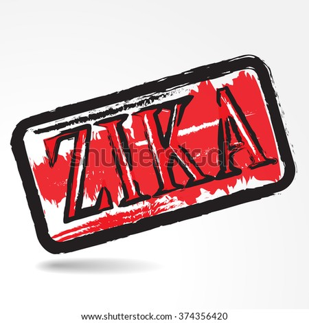 Zika virus grunge rubber stamp on white background.Vector illustration