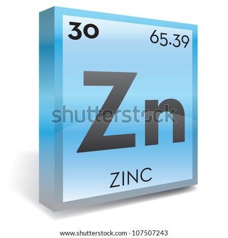 Zinc Element Periodic Table Stock Vector 107507243 Shutterstock