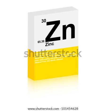 zinc symbol - stock vector
