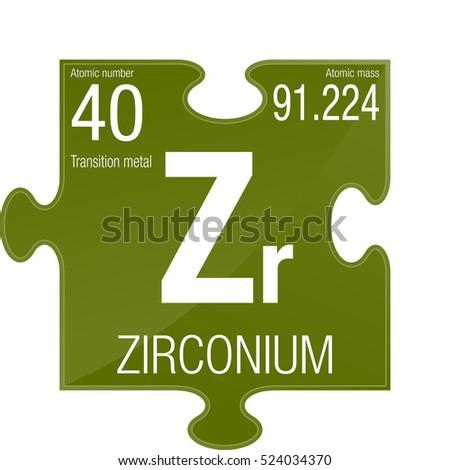 Zirconium symbol element number 40 periodic stock vector 524034370 zirconium symbol element number 40 of the periodic table of the elements chemistry urtaz Gallery