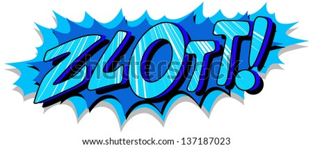 Zlott- Comic Expression Vector Text