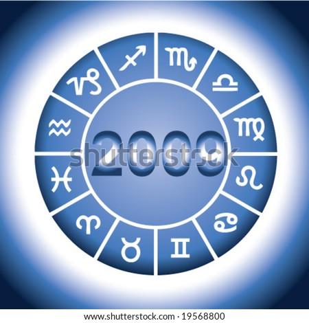 zodiac 2009 - stock vector