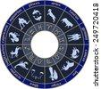zodiac circle - stock vector