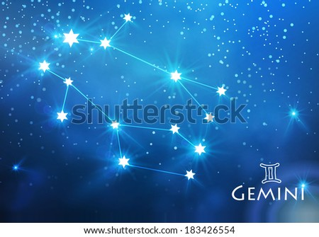 zodiac. gemini constellation.