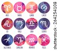 Zodiac icons. Freehand drawing. - stock vector