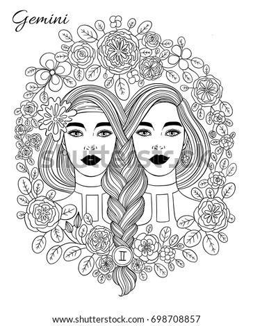 Gemini stock images royalty free images vectors for Gemini coloring pages