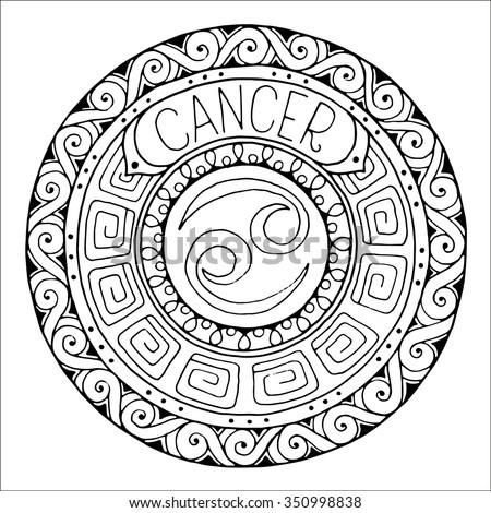 Zodiac Sign Capricorn Constellation Mandala Ethnic Stock