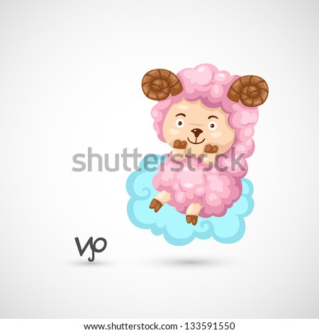 Zodiac signs - Aries vector Illustration - stock vector
