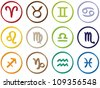 Zodiac Signs - Astrology symbols - stock vector