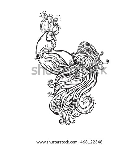 New Coloring Books For Adults : Zodiac signs rooster chinese new year stock vector 473522050