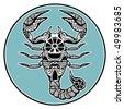 Zodiac signs - Scorpio - stock vector