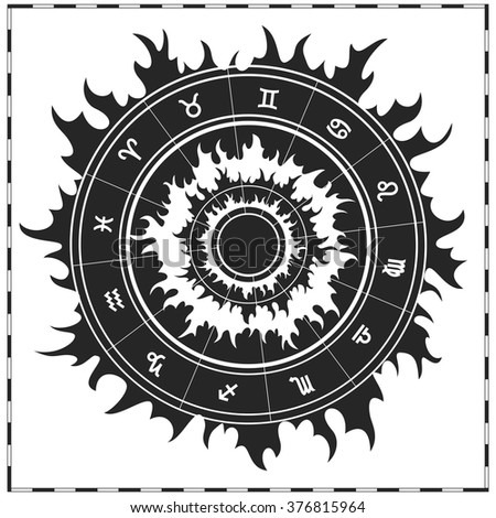 Zodiac symbols. Vector illustration. - stock vector
