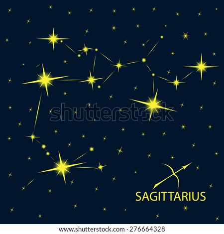 Zodiacal constellations SAGITTARIUS. - stock vector