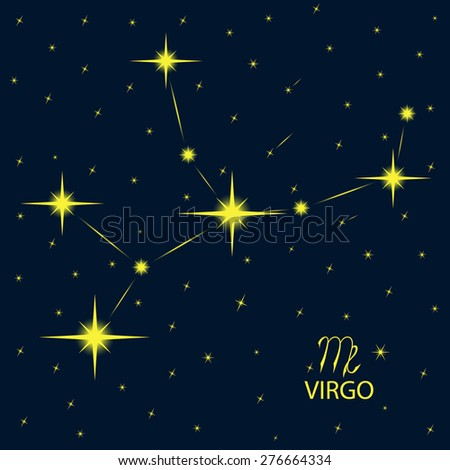 Zodiacal constellations VIRGO. Vector. - stock vector