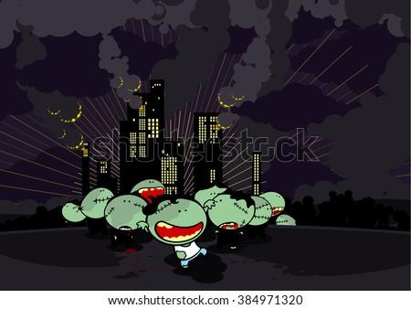 Zombie apocalypse - stock vector
