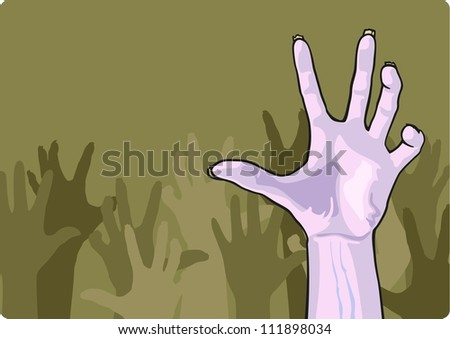 Zombie crowd - stock vector